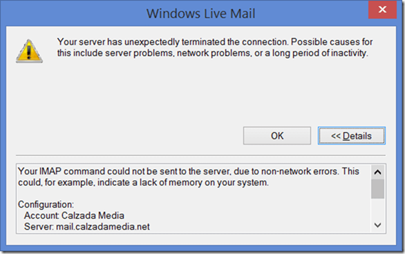 windowsmail_imap_failure.png - Click for larger image