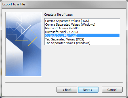 Outlook Export 5
